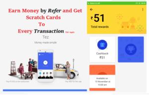 Tez app Rewards money with android app