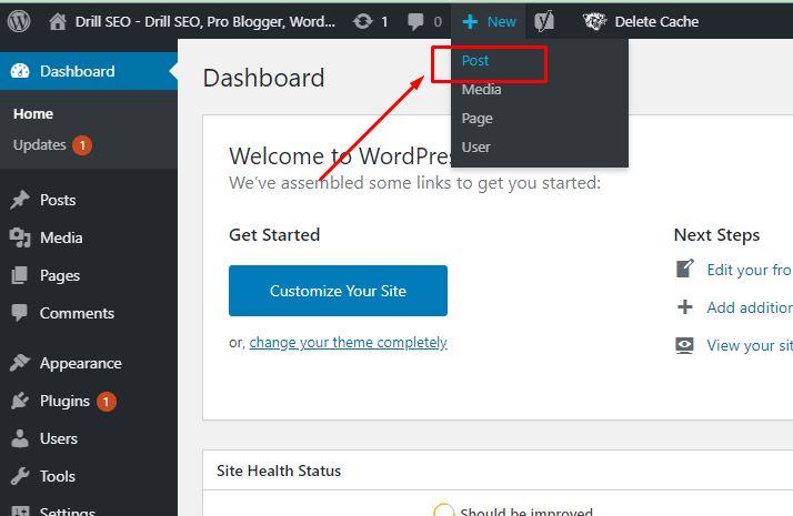 Wordpress post creating