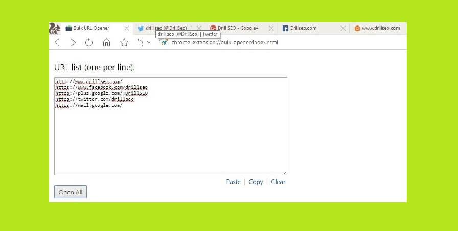 bulk URL opener chrome extension