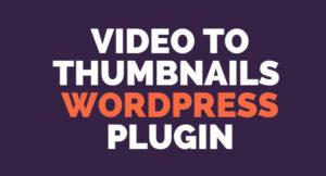video thumbnail wordpress plugin